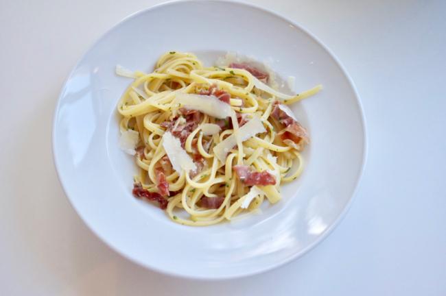 Pasta der Woche: Tagliatelle mit San Daniele Schinken